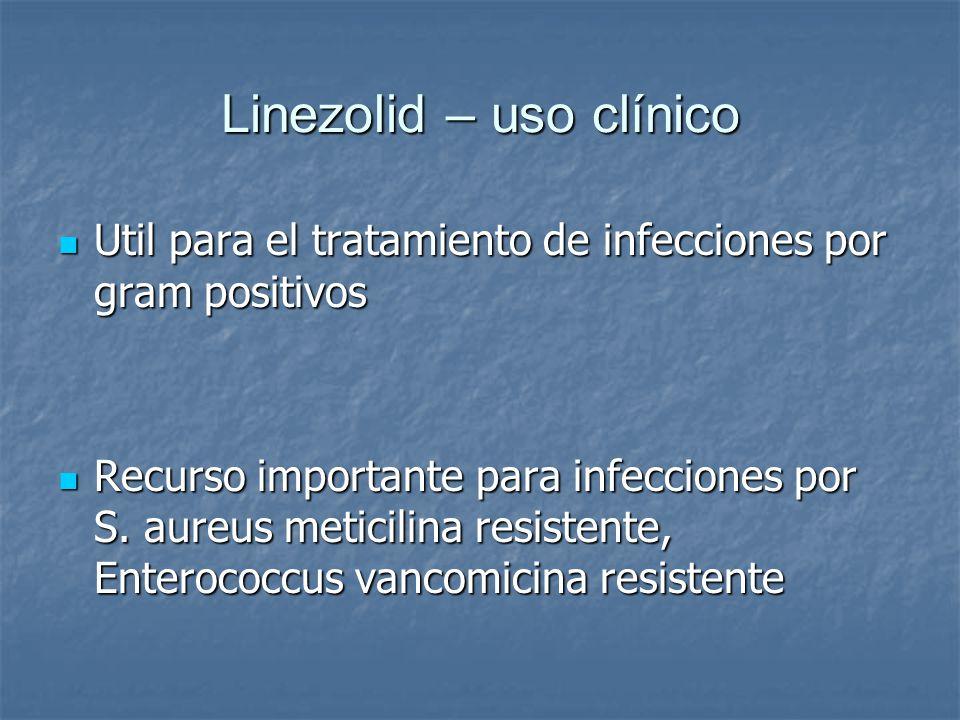 Linezolid – uso clínico