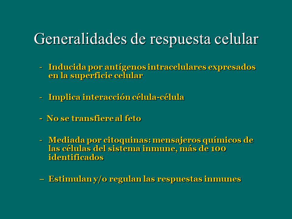 Generalidades de respuesta celular