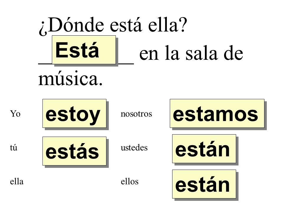 _________ en la sala de música.