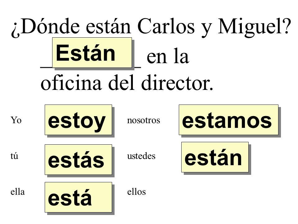 ¿Dónde están Carlos y Miguel Están