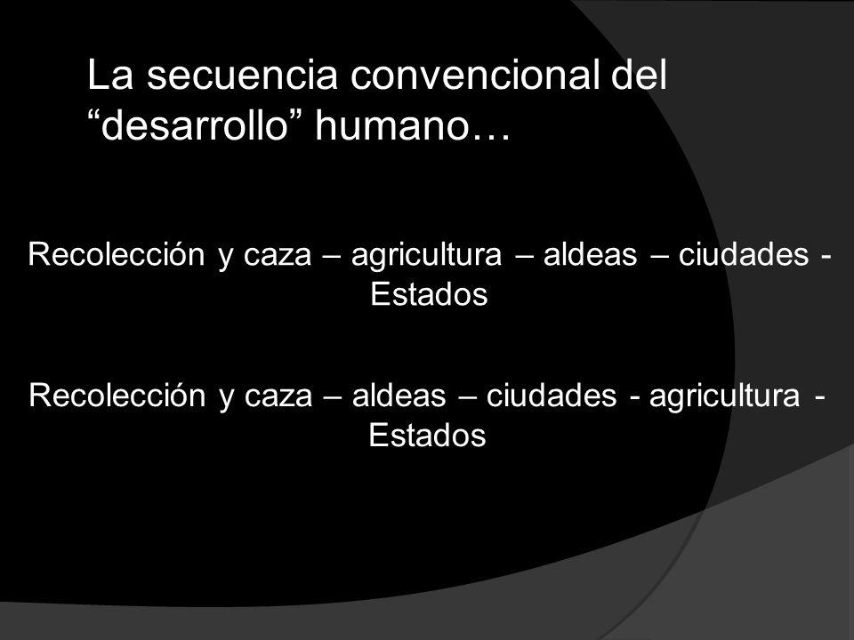 La secuencia convencional del desarrollo humano…