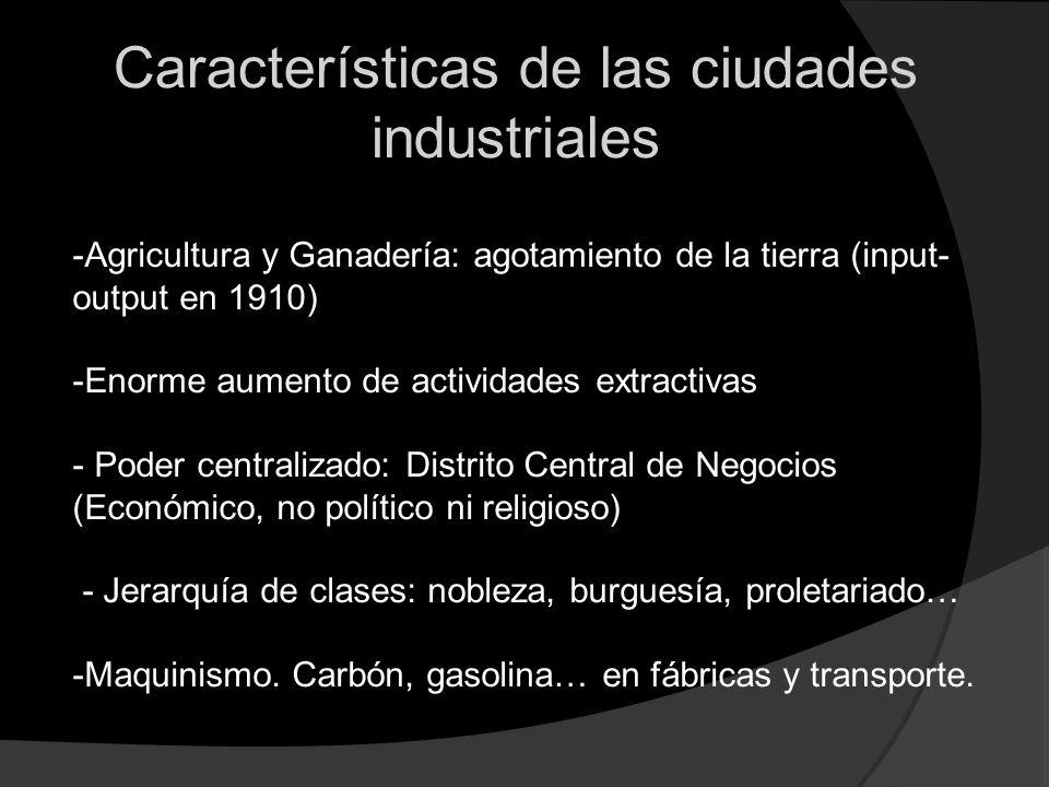 Características de las ciudades industriales