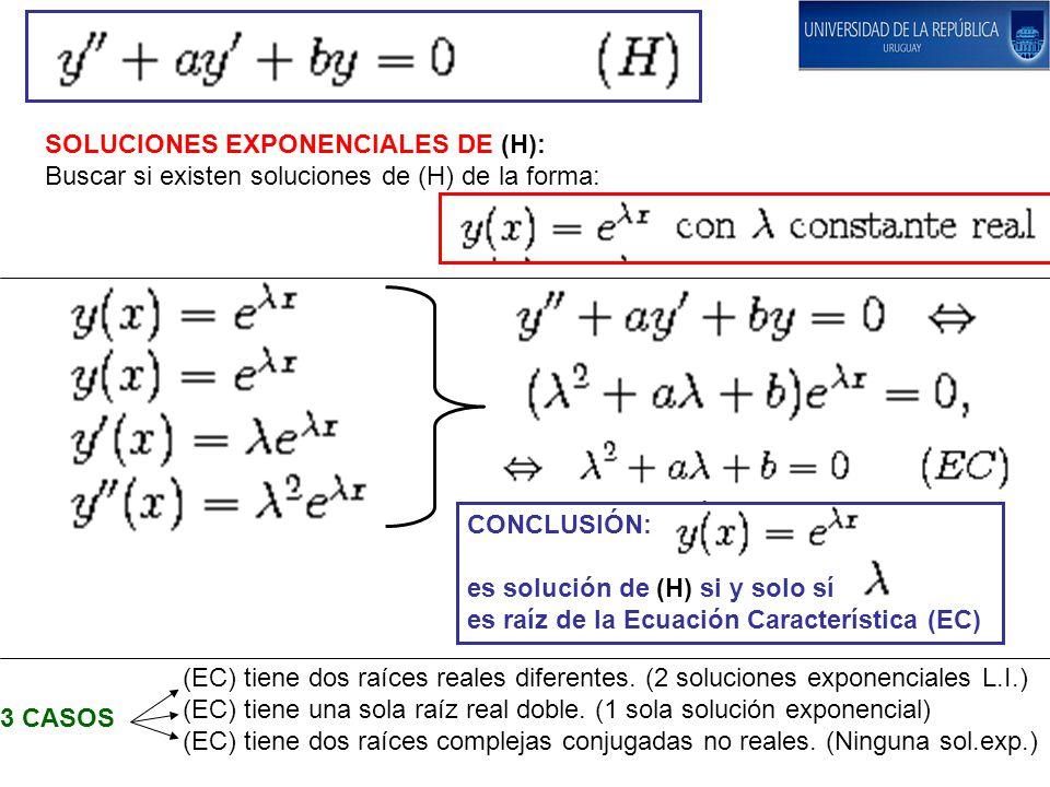SOLUCIONES EXPONENCIALES DE (H):