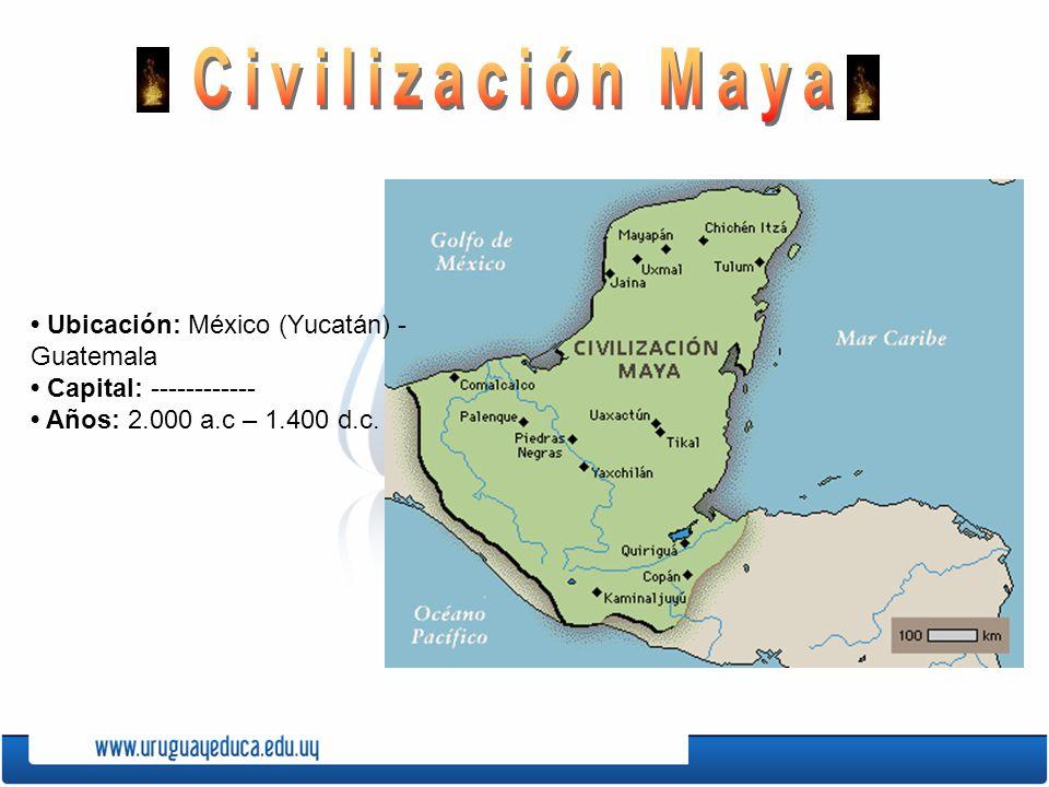 Las grandes civilizaciones ppt video online descargar for Cultura maya ubicacion