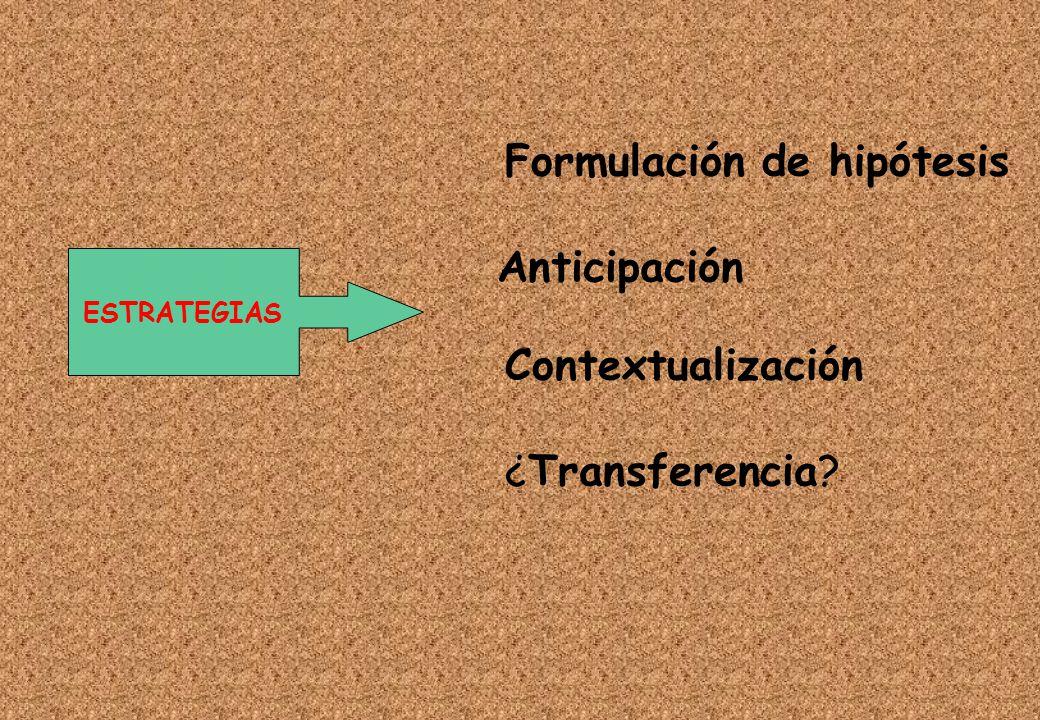 Formulación de hipótesis