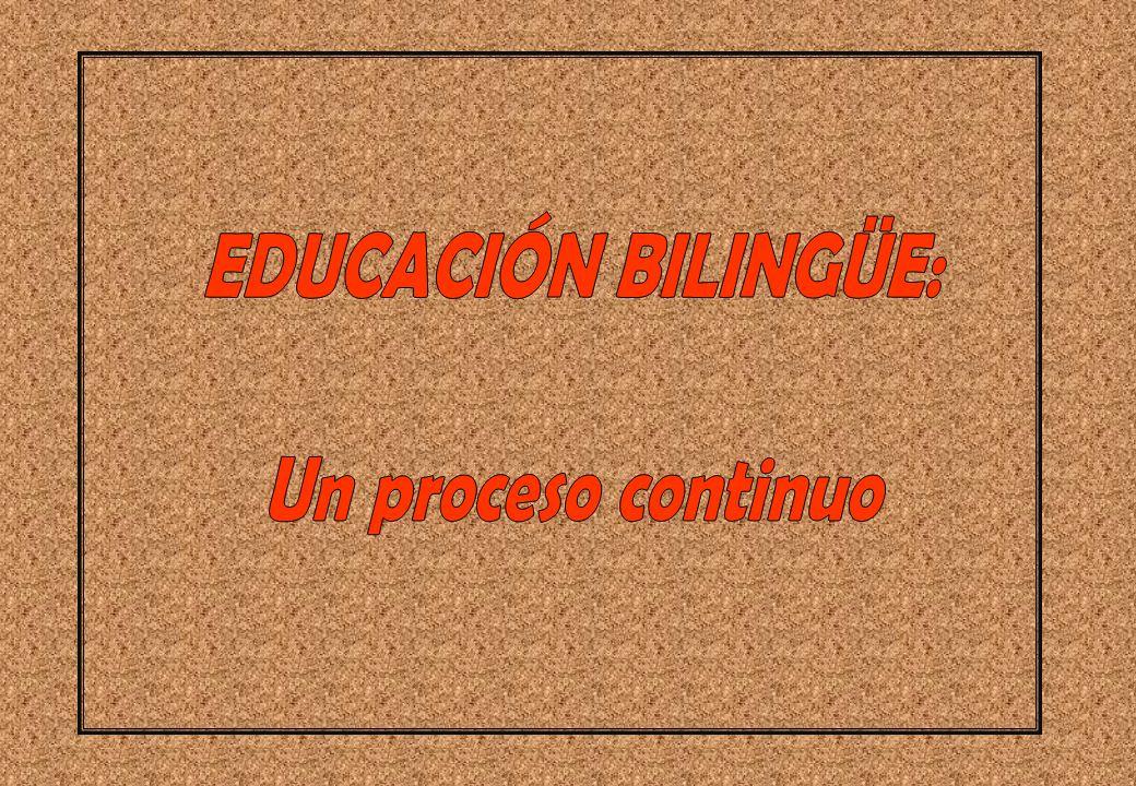 EDUCACIÓN BILINGÜE: Un proceso continuo