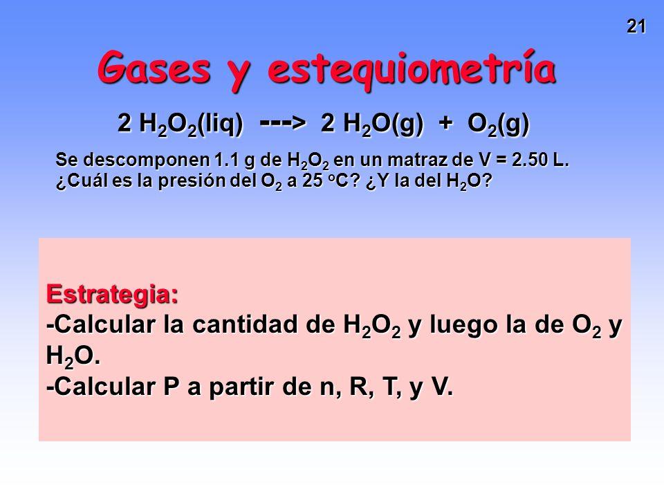 Gases y estequiometría