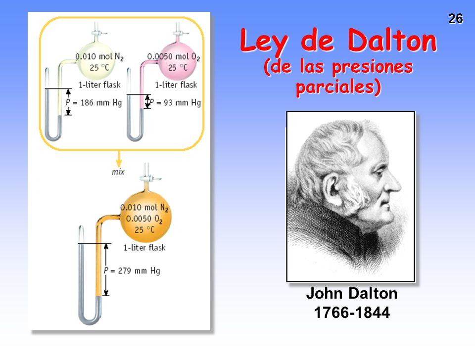 Ley de Dalton (de las presiones parciales)