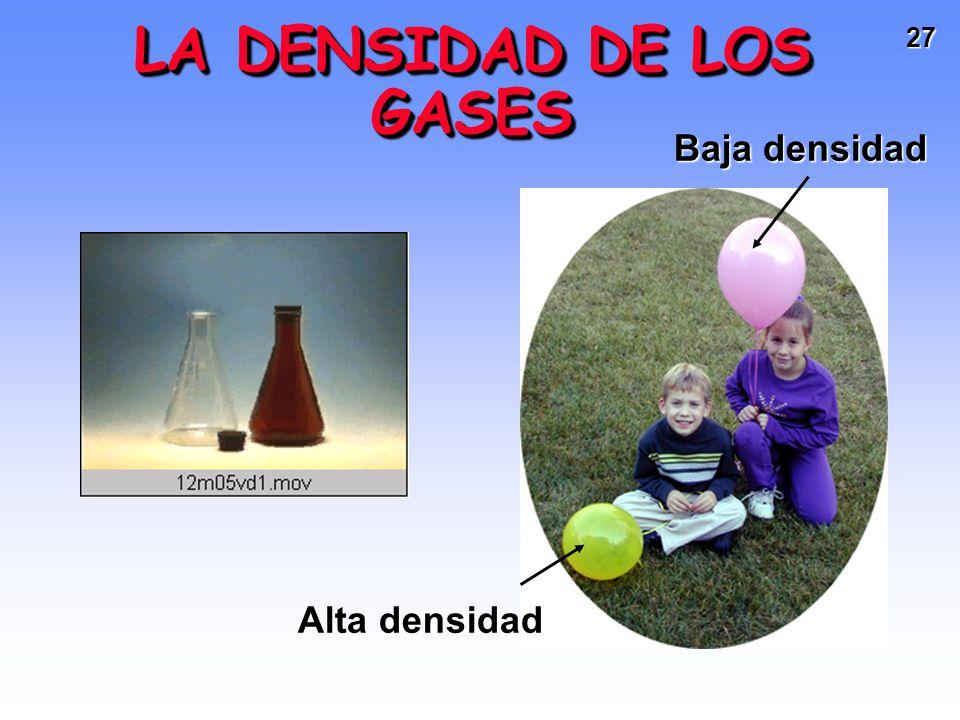 LA DENSIDAD DE LOS GASES