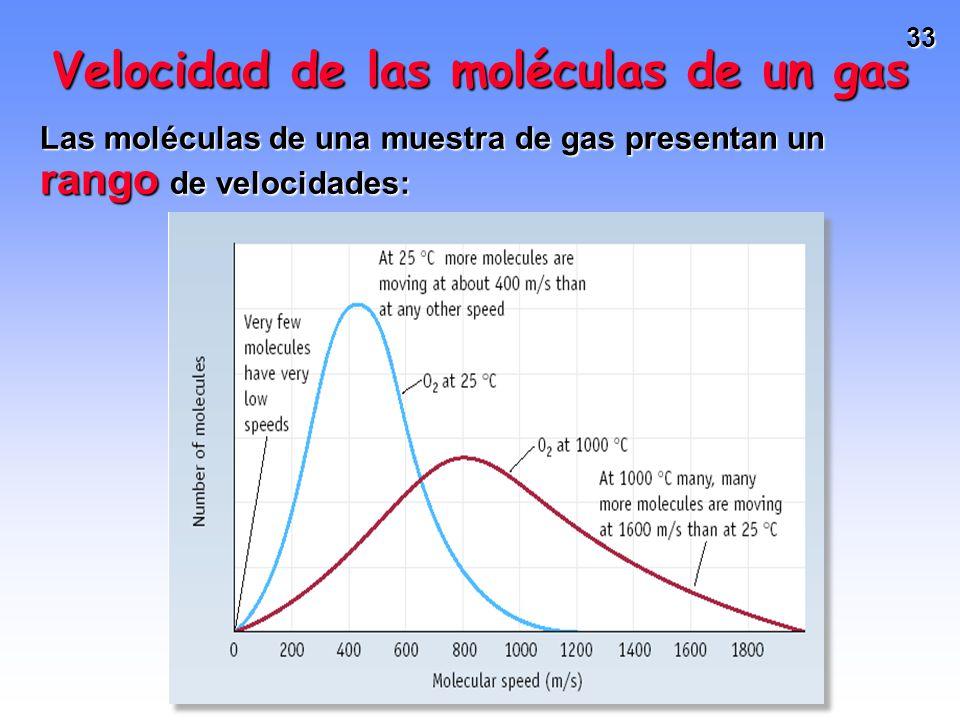 Velocidad de las moléculas de un gas