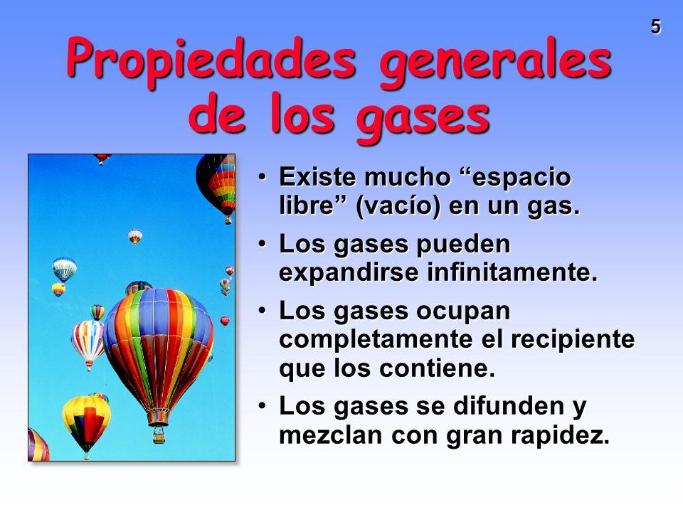 Propiedades generales de los gases