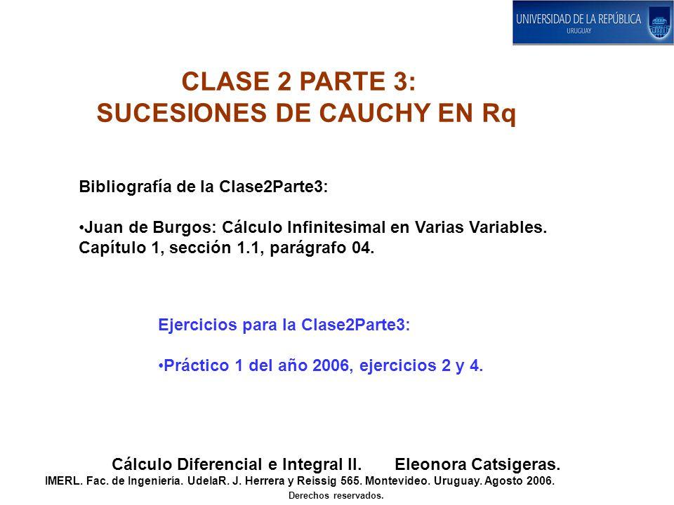 CLASE 2 PARTE 3: SUCESIONES DE CAUCHY EN Rq