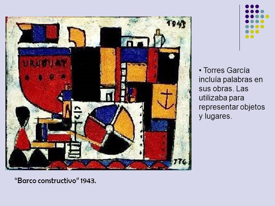 Torres García incluía palabras en sus obras