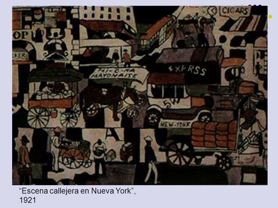 Escena callejera en Nueva York , 1921