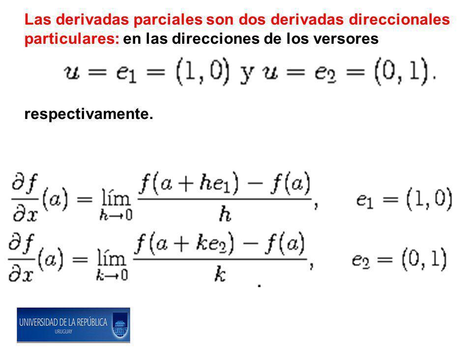 Las derivadas parciales son dos derivadas direccionales