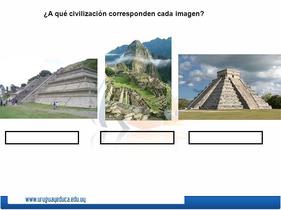 ¿A qué civilización corresponden cada imagen