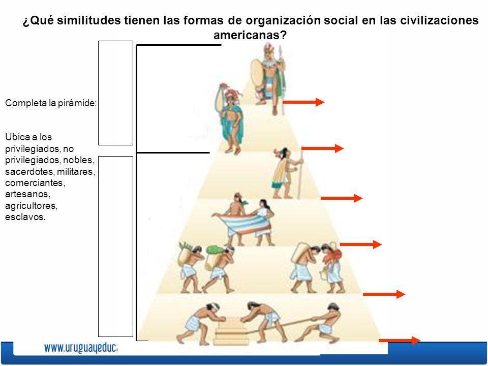 ¿Qué similitudes tienen las formas de organización social en las civilizaciones americanas