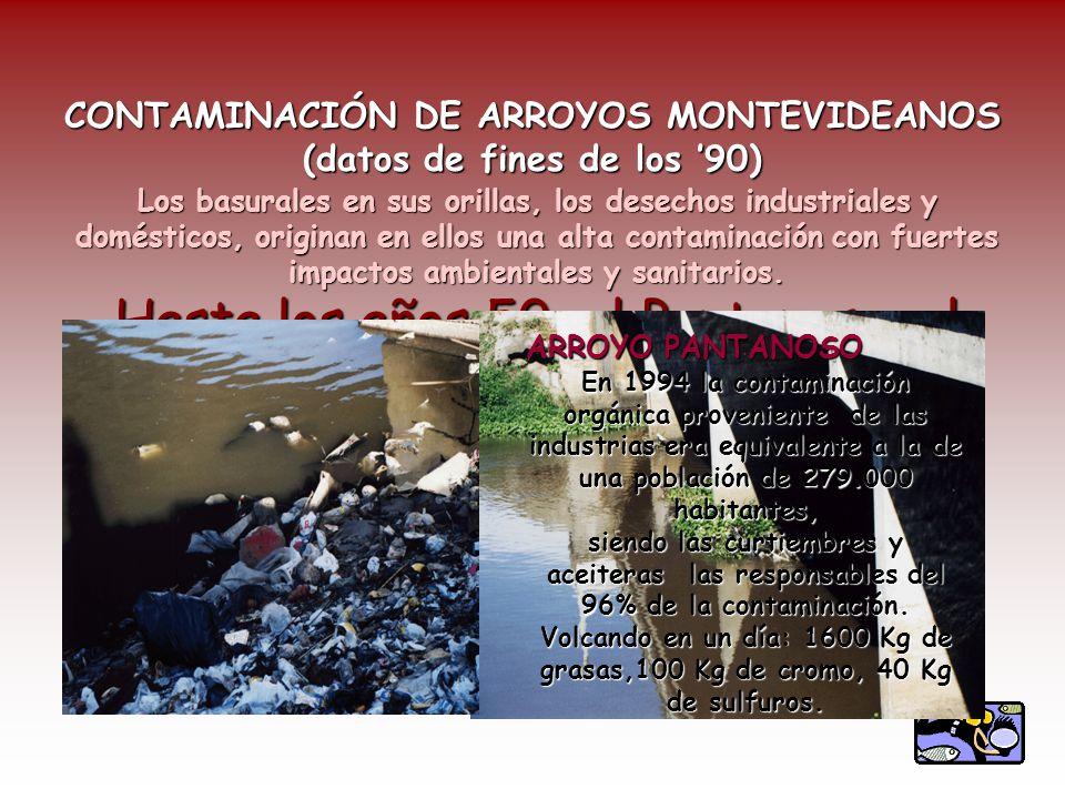 CONTAMINACIÓN DE ARROYOS MONTEVIDEANOS (datos de fines de los '90)