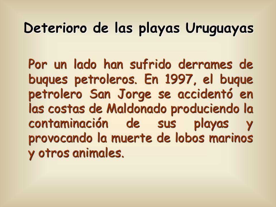 Deterioro de las playas Uruguayas