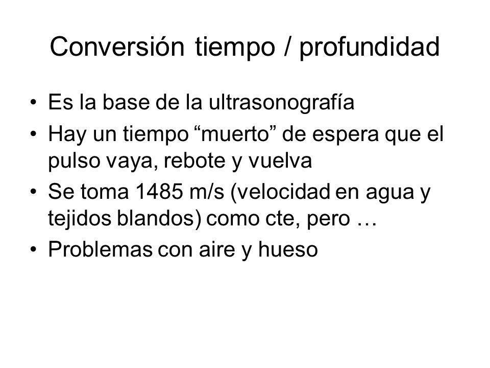 Conversión tiempo / profundidad