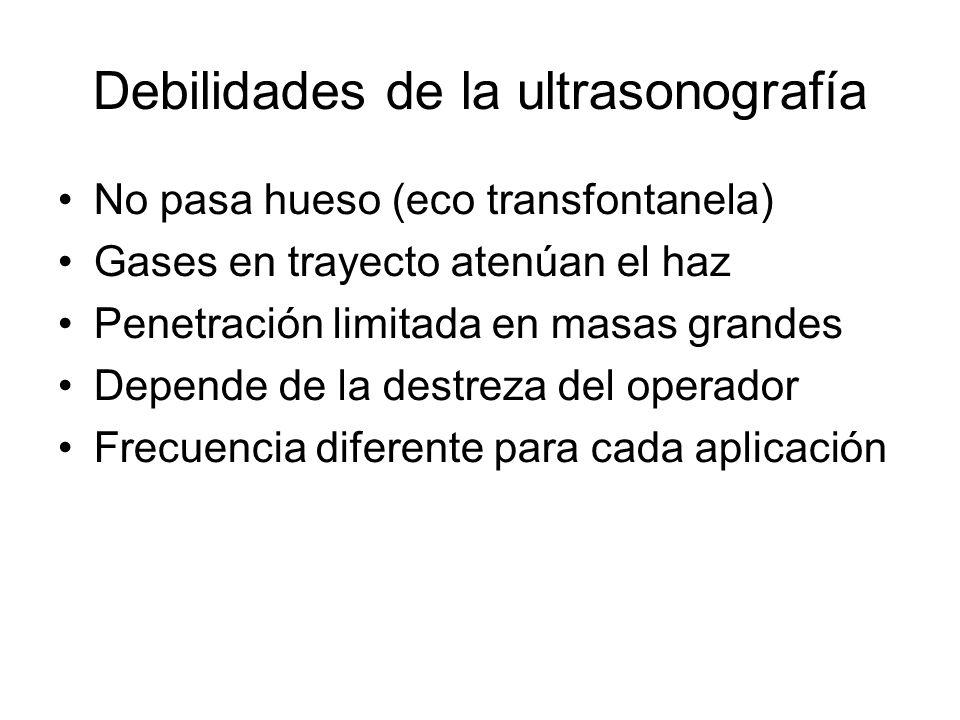 Debilidades de la ultrasonografía