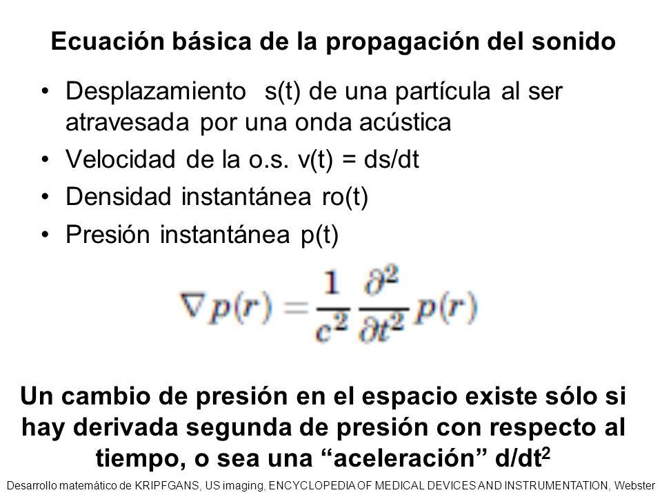 Ecuación básica de la propagación del sonido