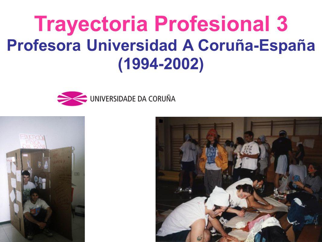 Trayectoria Profesional 3 Profesora Universidad A Coruña-España (1994-2002)