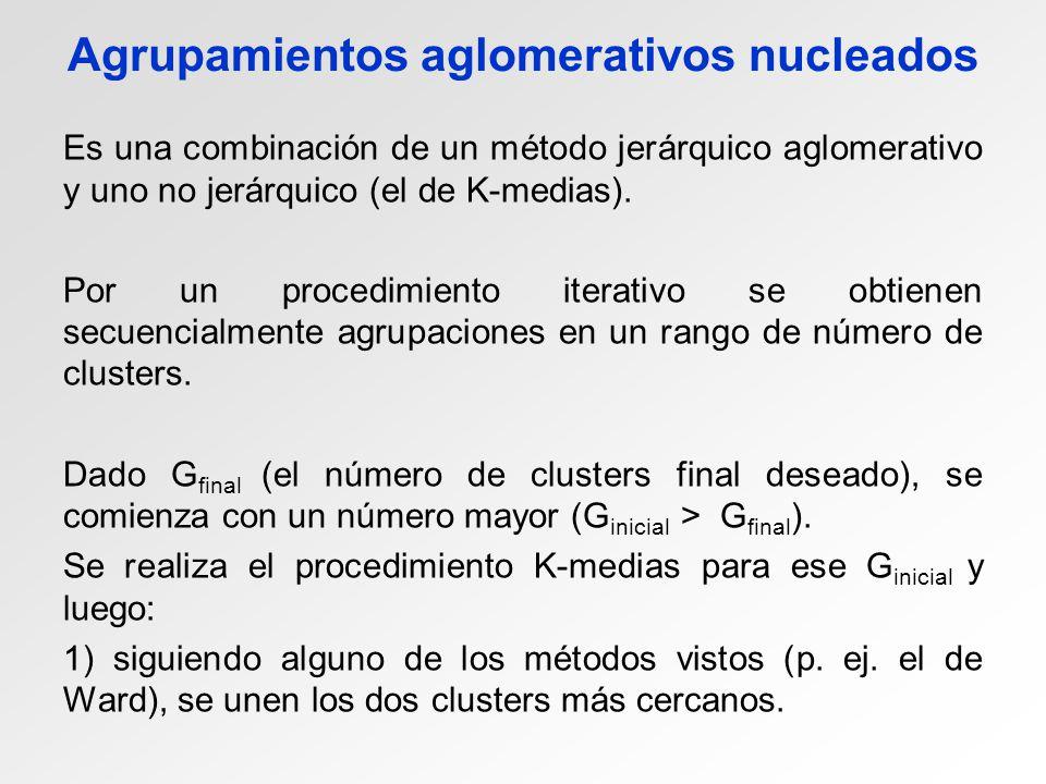 Agrupamientos aglomerativos nucleados