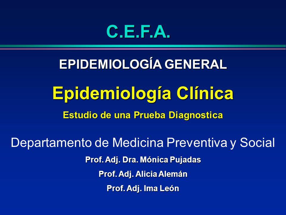 C.E.F.A. Epidemiología Clínica