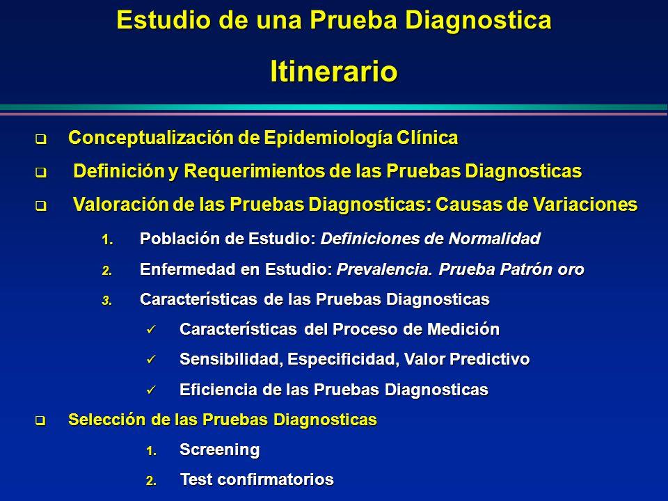 Estudio de una Prueba Diagnostica