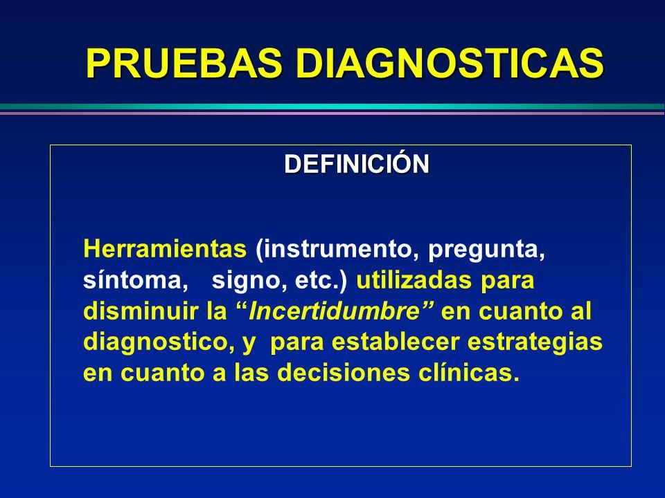 PRUEBAS DIAGNOSTICAS DEFINICIÓN