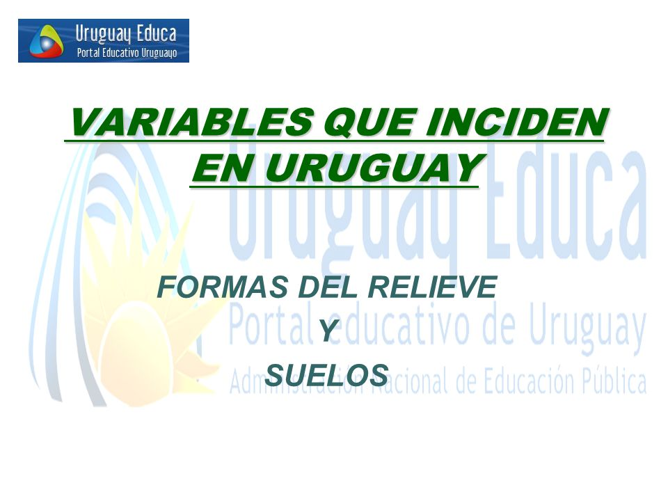 VARIABLES QUE INCIDEN EN URUGUAY