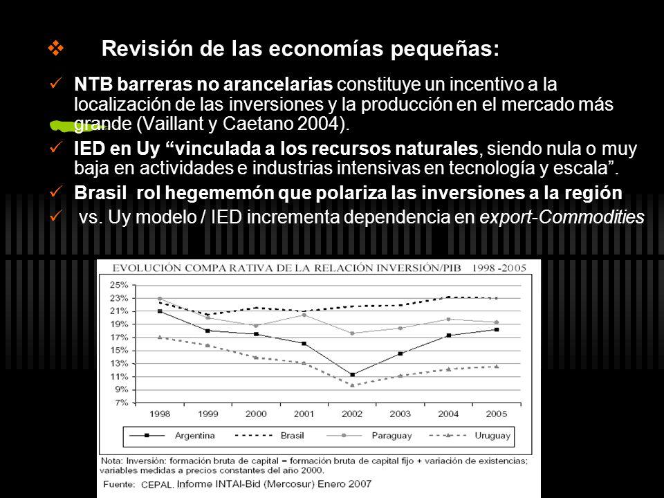 Revisión de las economías pequeñas: