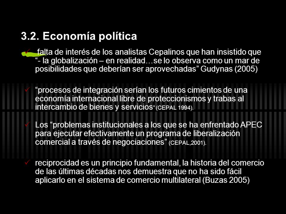 3.2. Economía política