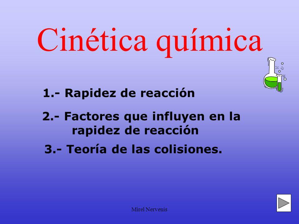 Cinética química 1.- Rapidez de reacción