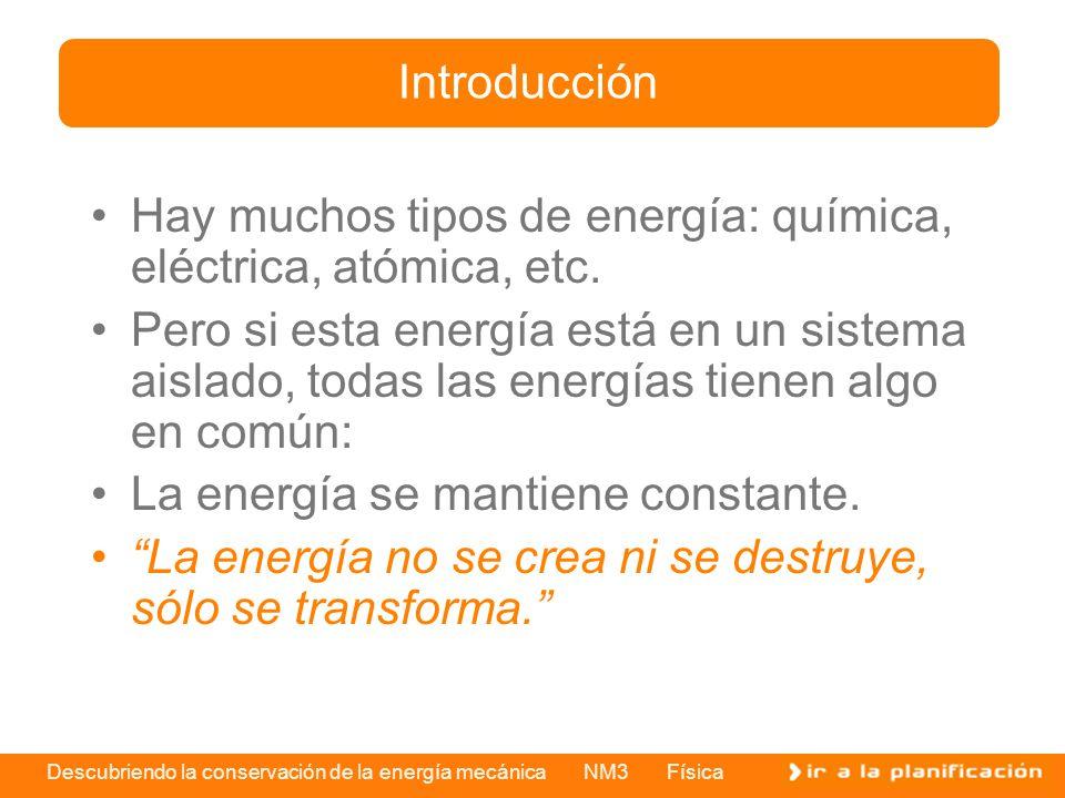 Introducción Hay muchos tipos de energía: química, eléctrica, atómica, etc.
