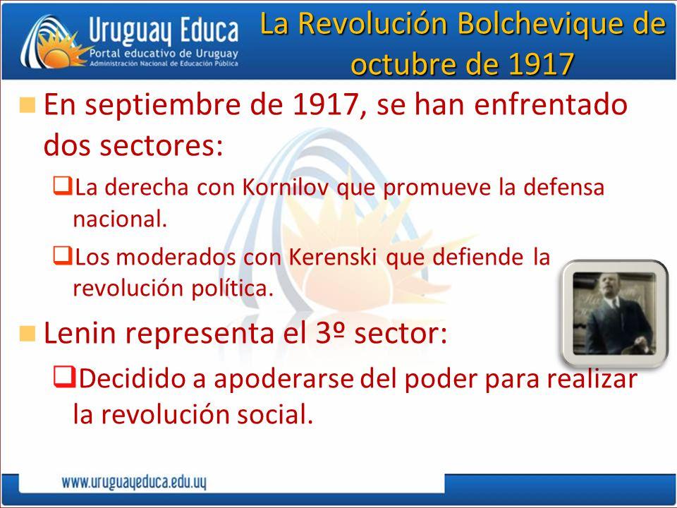 La Revolución Bolchevique de octubre de 1917