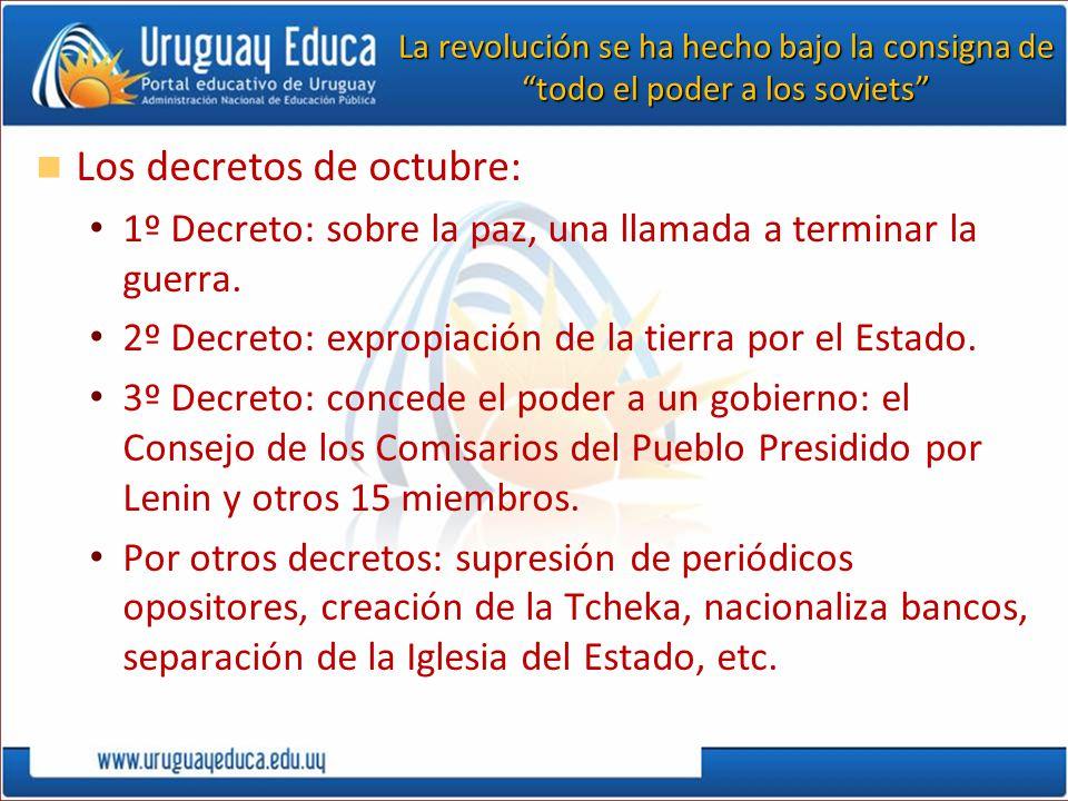 Los decretos de octubre: