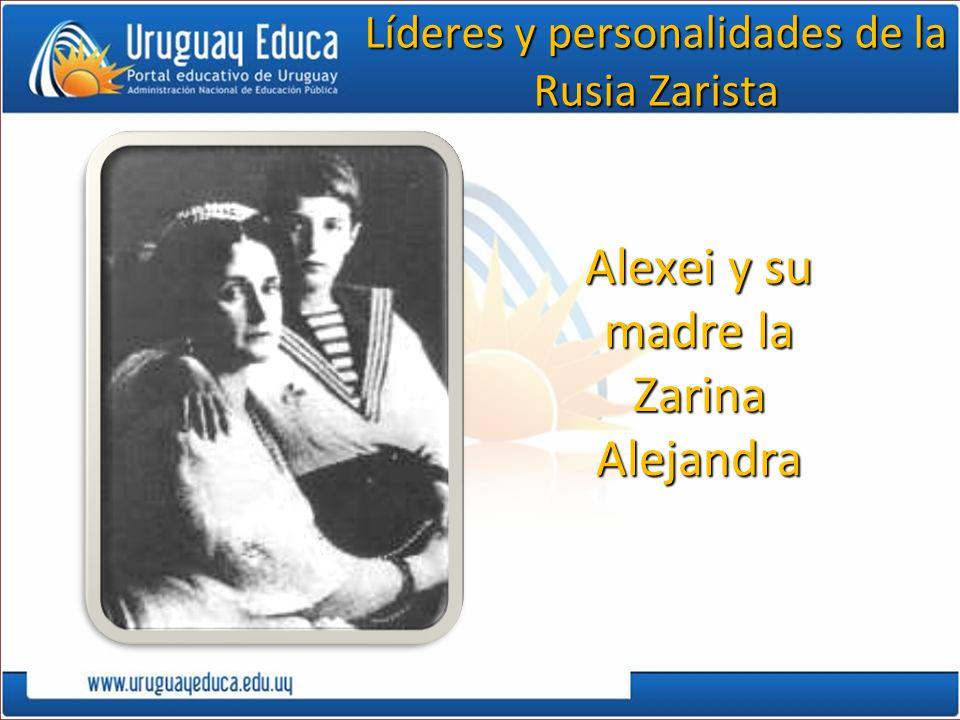 Alexei y su madre la Zarina Alejandra