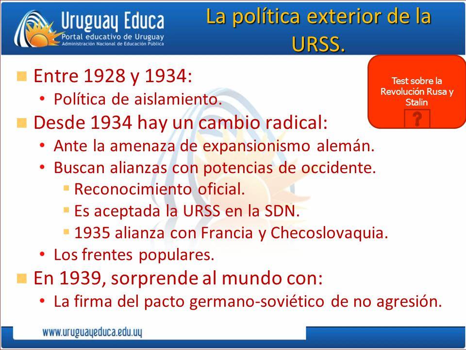 La política exterior de la URSS.