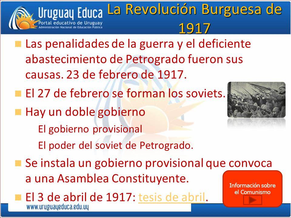 La Revolución Burguesa de 1917