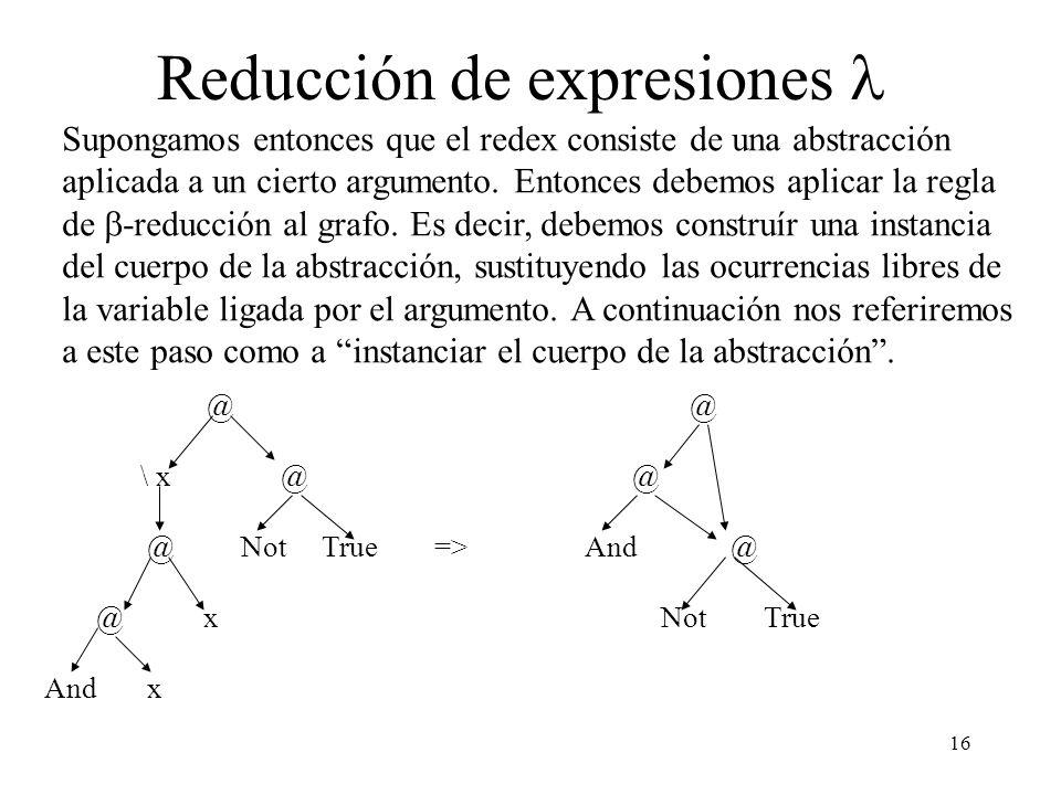 Reducción de expresiones l