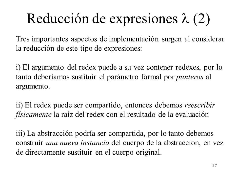 Reducción de expresiones l (2)