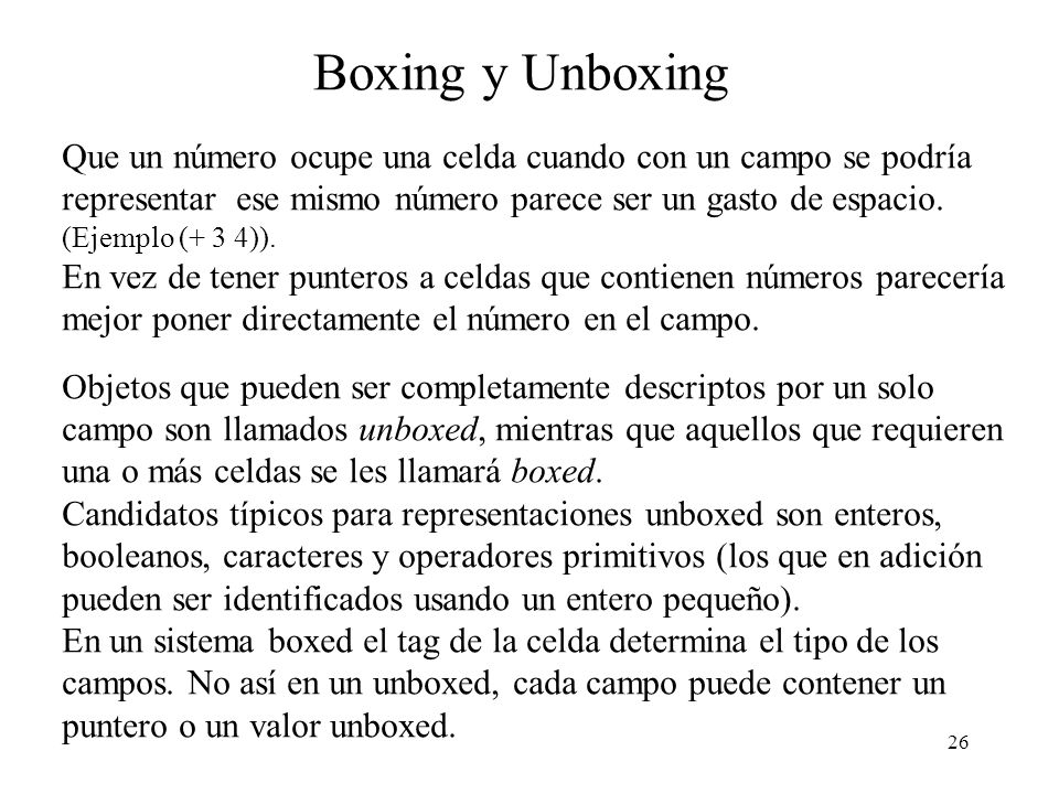 Boxing y Unboxing