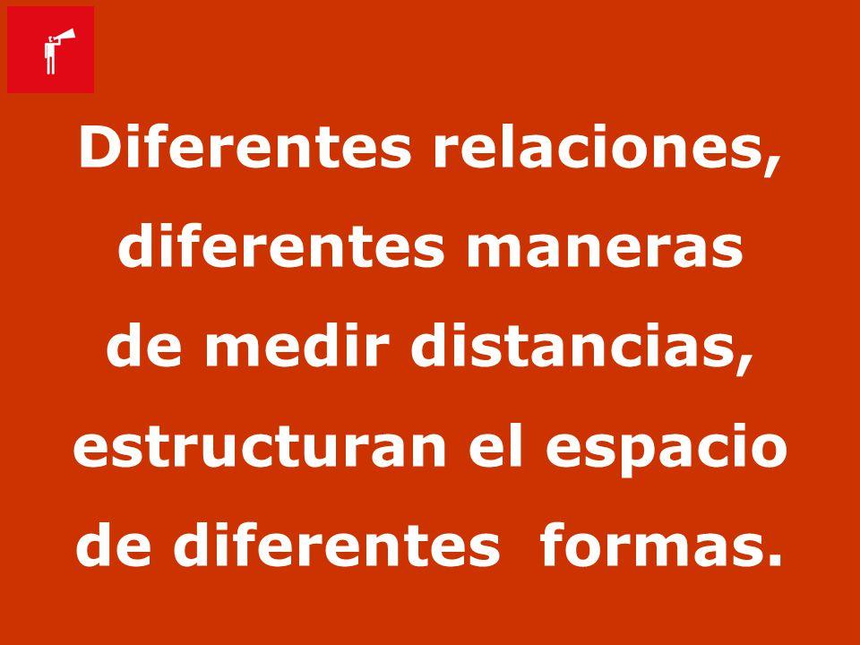 Diferentes relaciones, estructuran el espacio