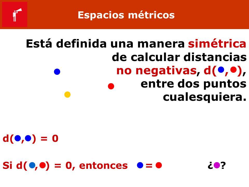 Está definida una manera simétrica de calcular distancias