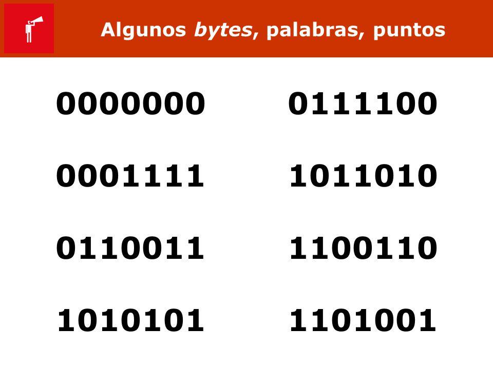 Algunos bytes, palabras, puntos