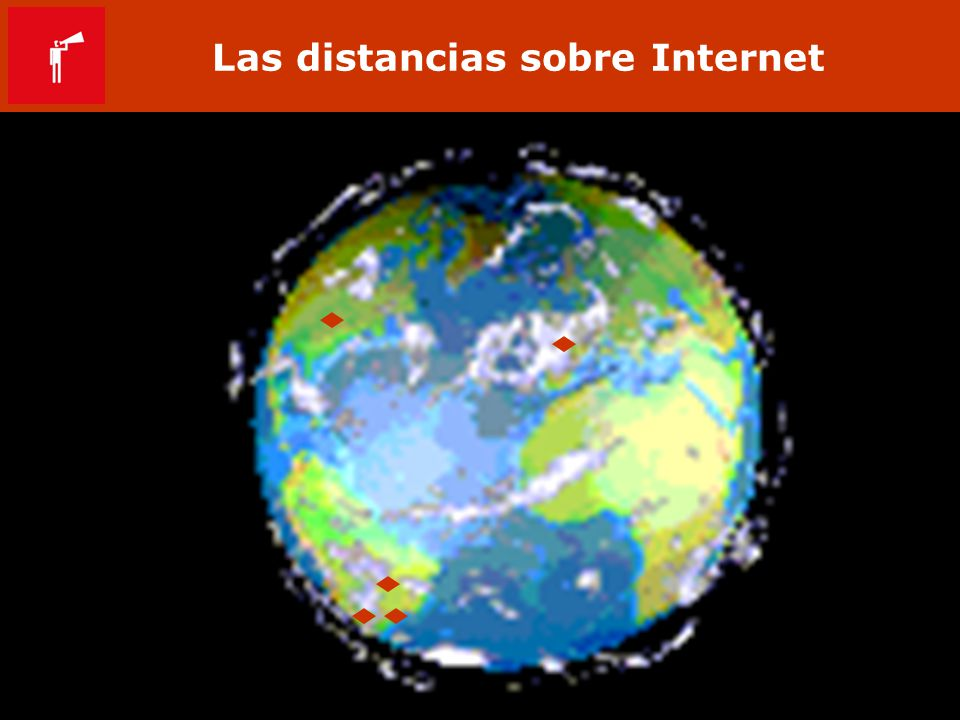 Las distancias sobre Internet