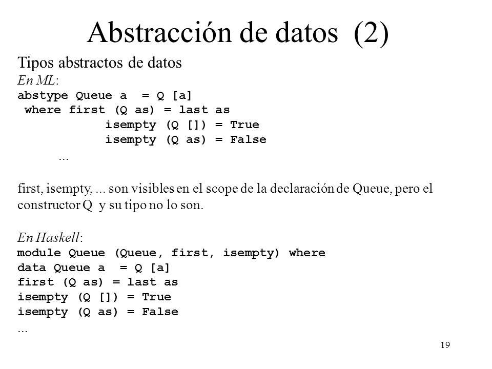 Abstracción de datos (2)