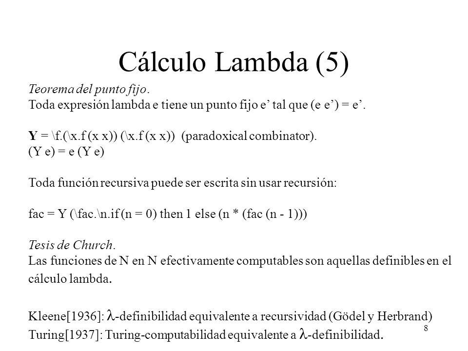 Cálculo Lambda (5) Teorema del punto fijo.